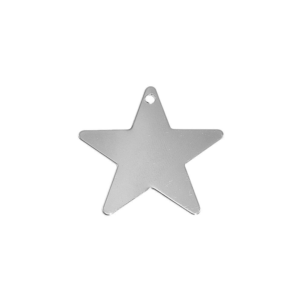 Pingente Estrela de Metal - 37mm  - Nathalia Bijoux®