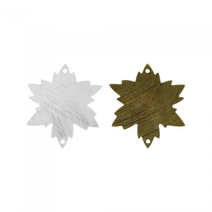 Alongador Estrela de Metal 2 Saídas - 21mm  - Nathalia Bijoux®