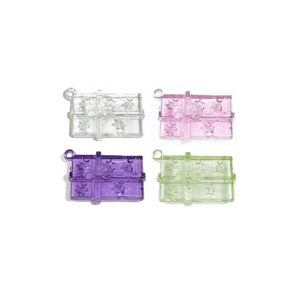Pingente Presente de Acrílico - 36mm  - Nathalia Bijoux®