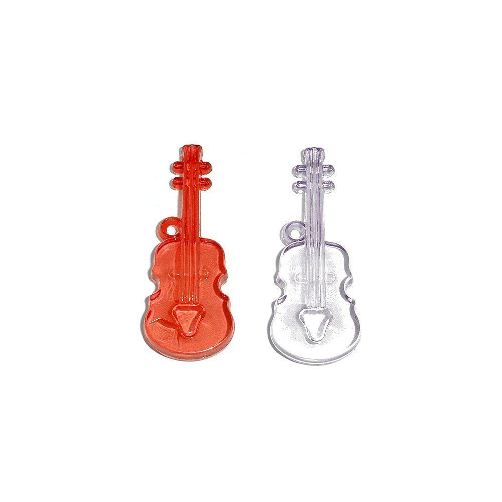 Pingente Violino de Acrílico - 50mm  - Nathalia Bijoux®