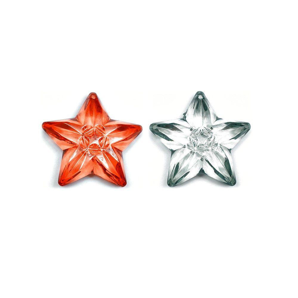 Pingente Estrela de Acrílico - 53mm  - Nathalia Bijoux®
