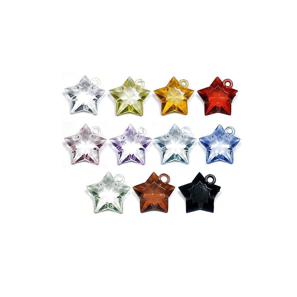 Pingente Estrela de Acrílico - 24mm  - Nathalia Bijoux®