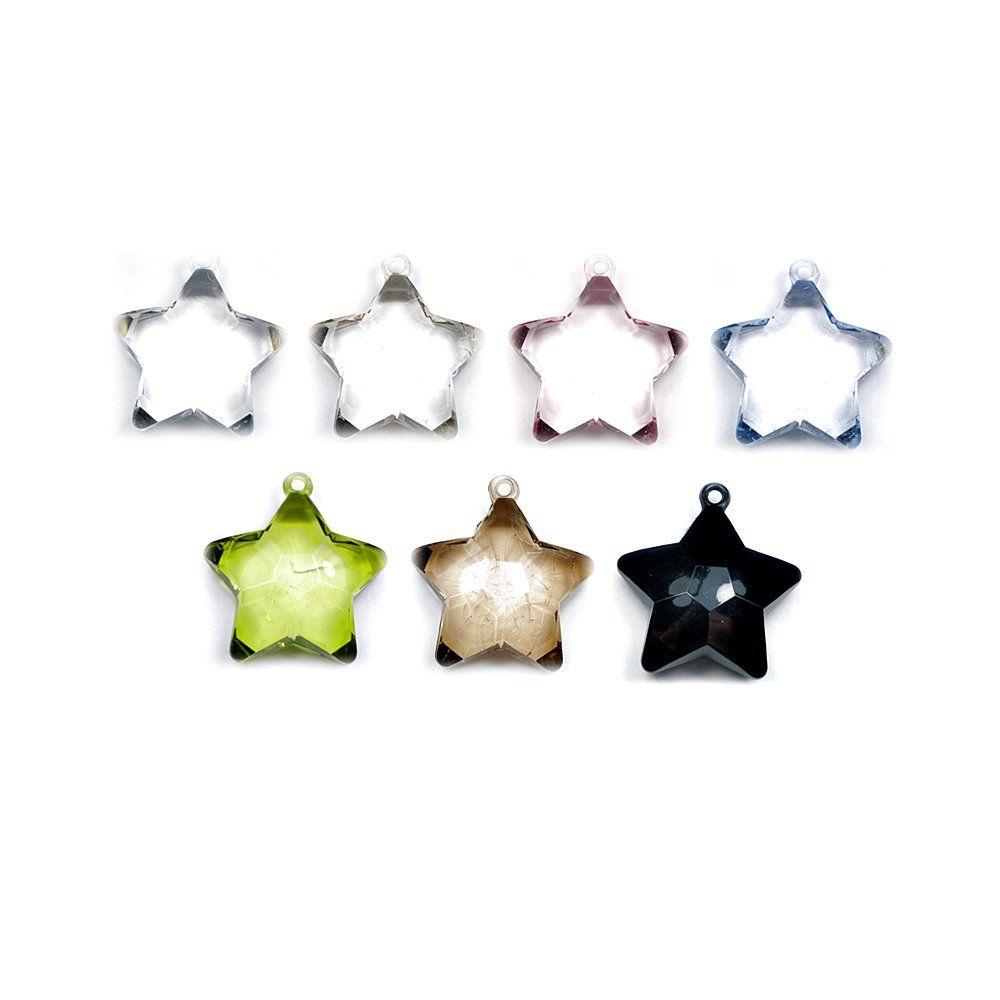 Pingente Estrela de Acrílico - 48mm  - Nathalia Bijoux®