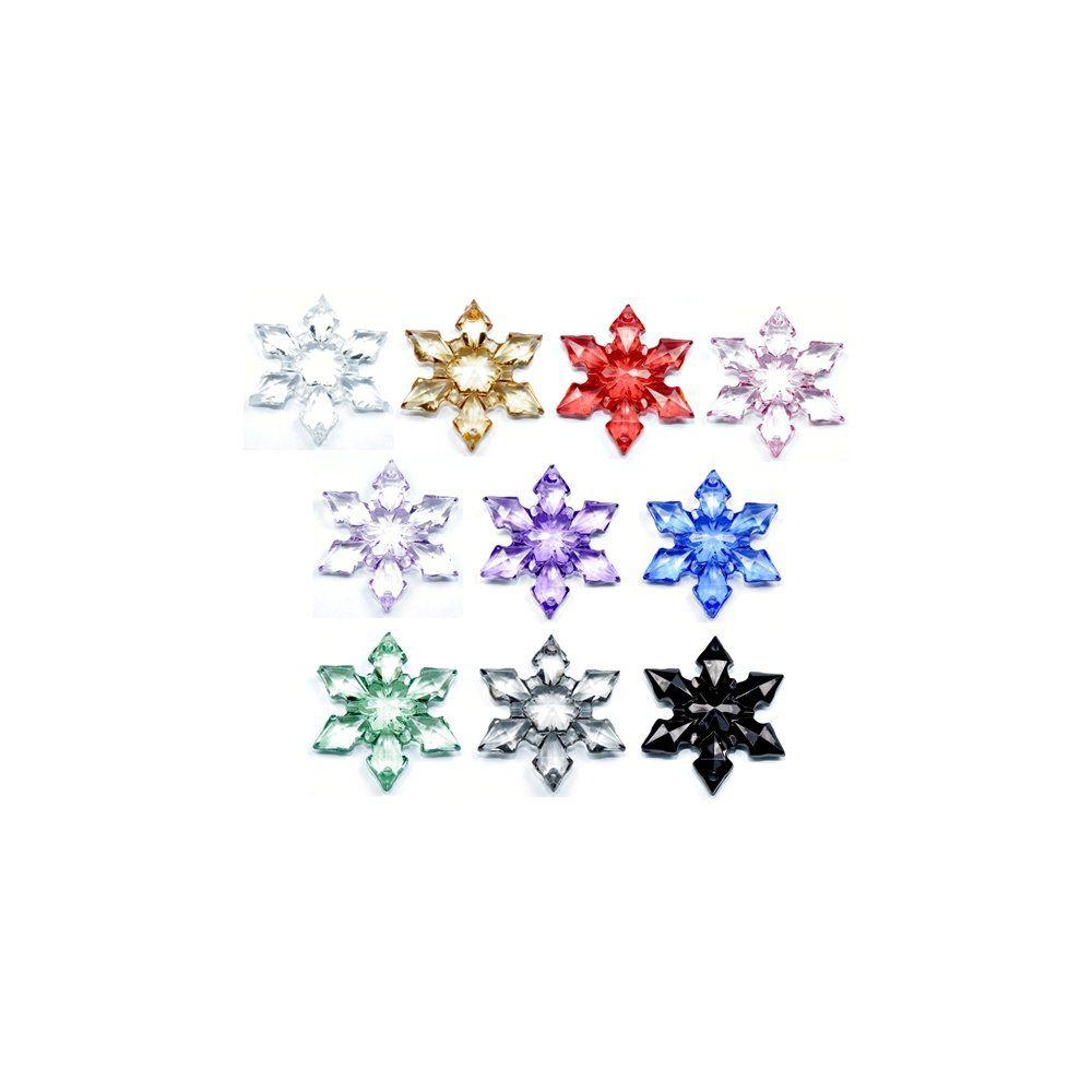 Alongador Estrela de Acrílico 2 Saídas - 47mm  - Nathalia Bijoux®