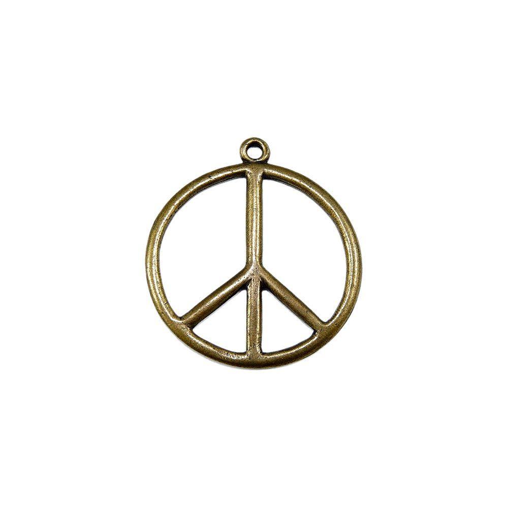 Pingente Símbolo Hippie de Metal - 47mm  - Nathalia Bijoux®