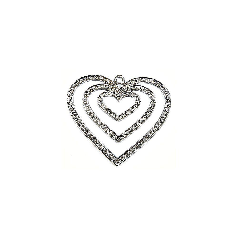 Pingente Coração de Metal - 59mm  - Nathalia Bijoux®