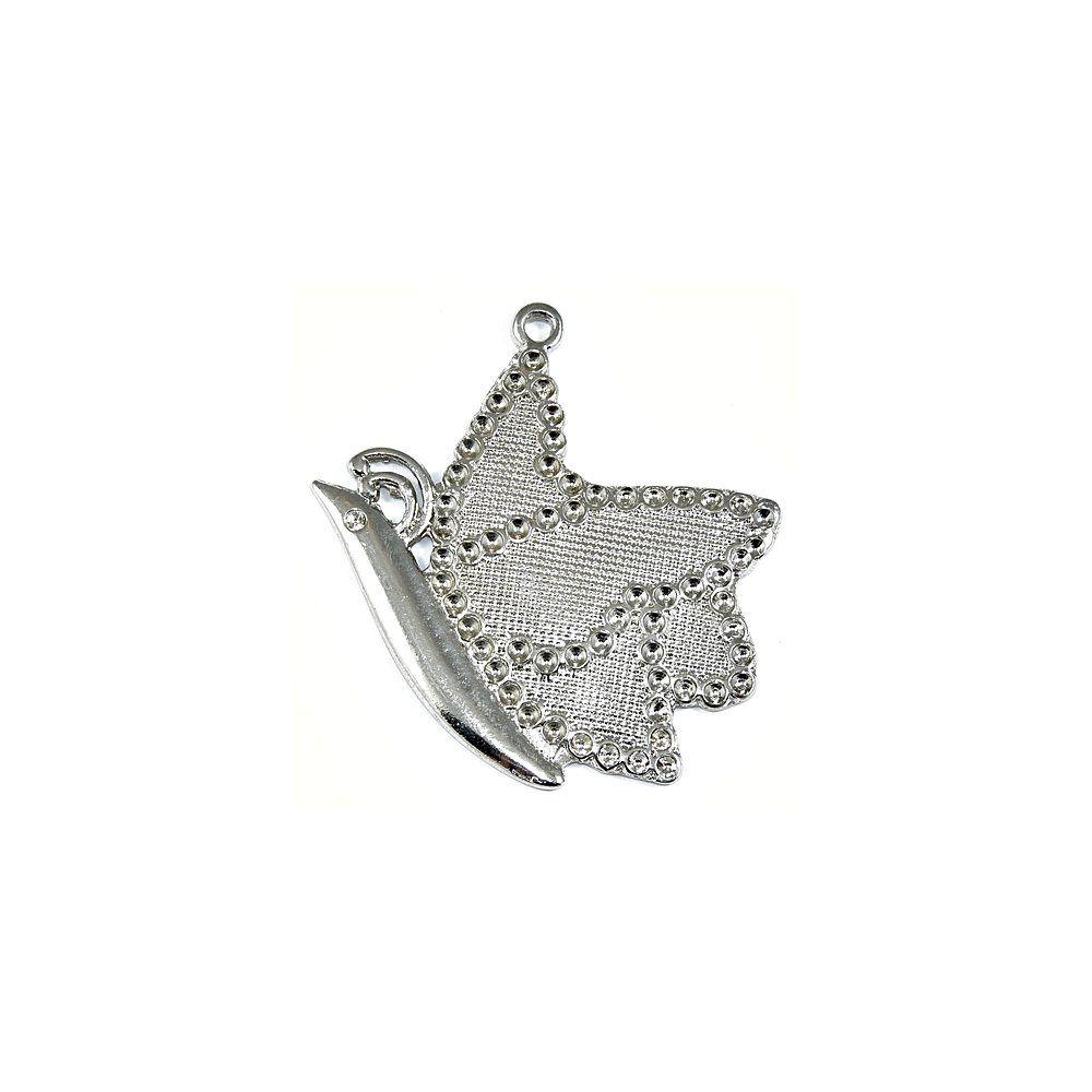 Pingente Borboleta de Metal - 60mm  - Nathalia Bijoux®