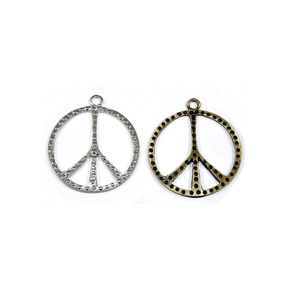 Pingente Símbolo Hippie de Metal - 57mm  - Nathalia Bijoux®