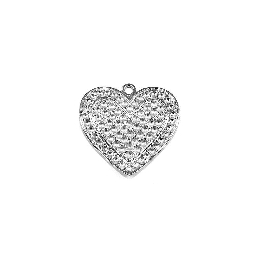 Pingente Coração de Metal - 39mm  - Nathalia Bijoux®