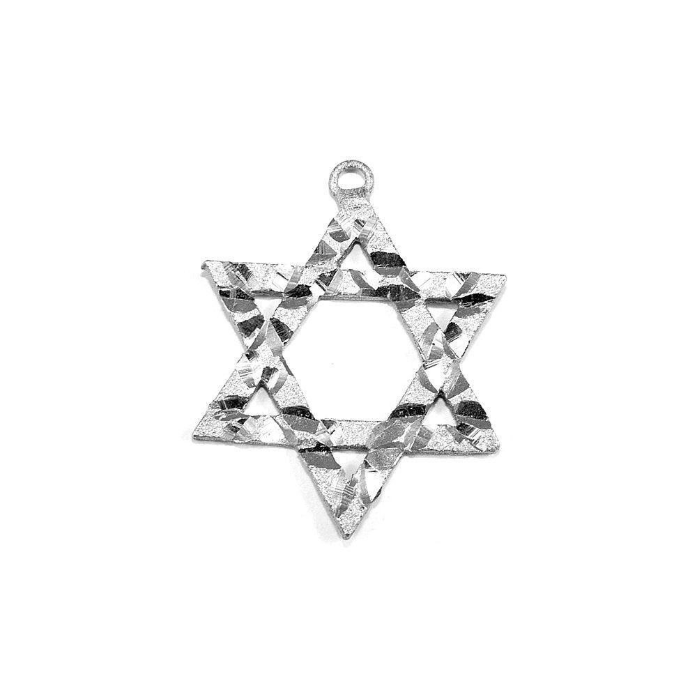 Pingente Estrela de Davi de Metal - 34mm  - Nathalia Bijoux®