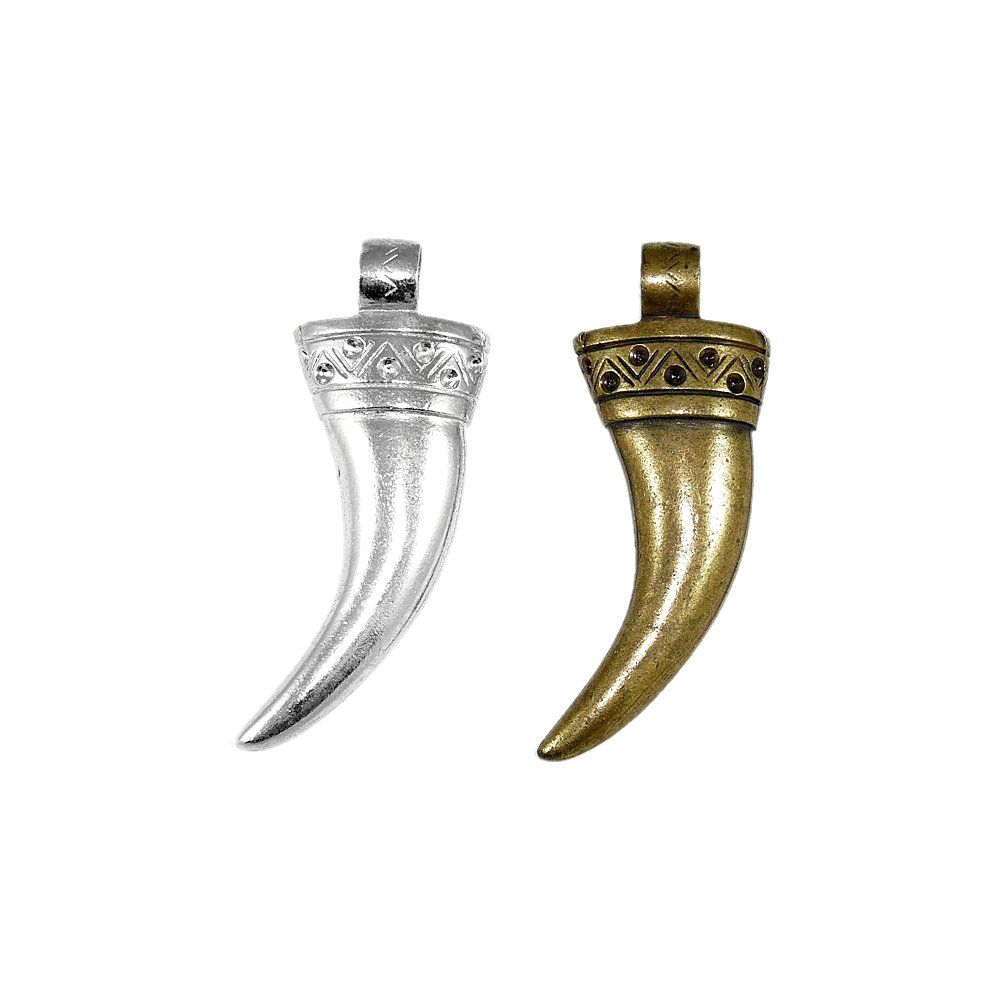 Pingente Chifre de Metal - 70mm  - Nathalia Bijoux®