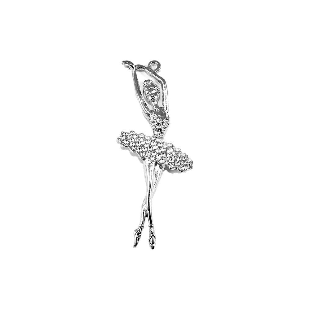 Pingente Bailarina de Metal - 80mm  - Nathalia Bijoux®