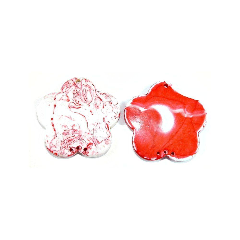 Pingente Flor de Resina - 49mm - 4pçs  - Nathalia Bijoux®