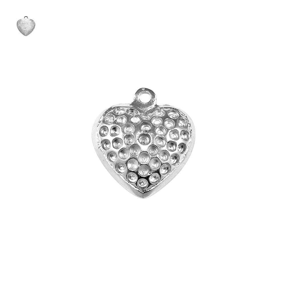Pingente Coração de Metal - 28mm  - Nathalia Bijoux®