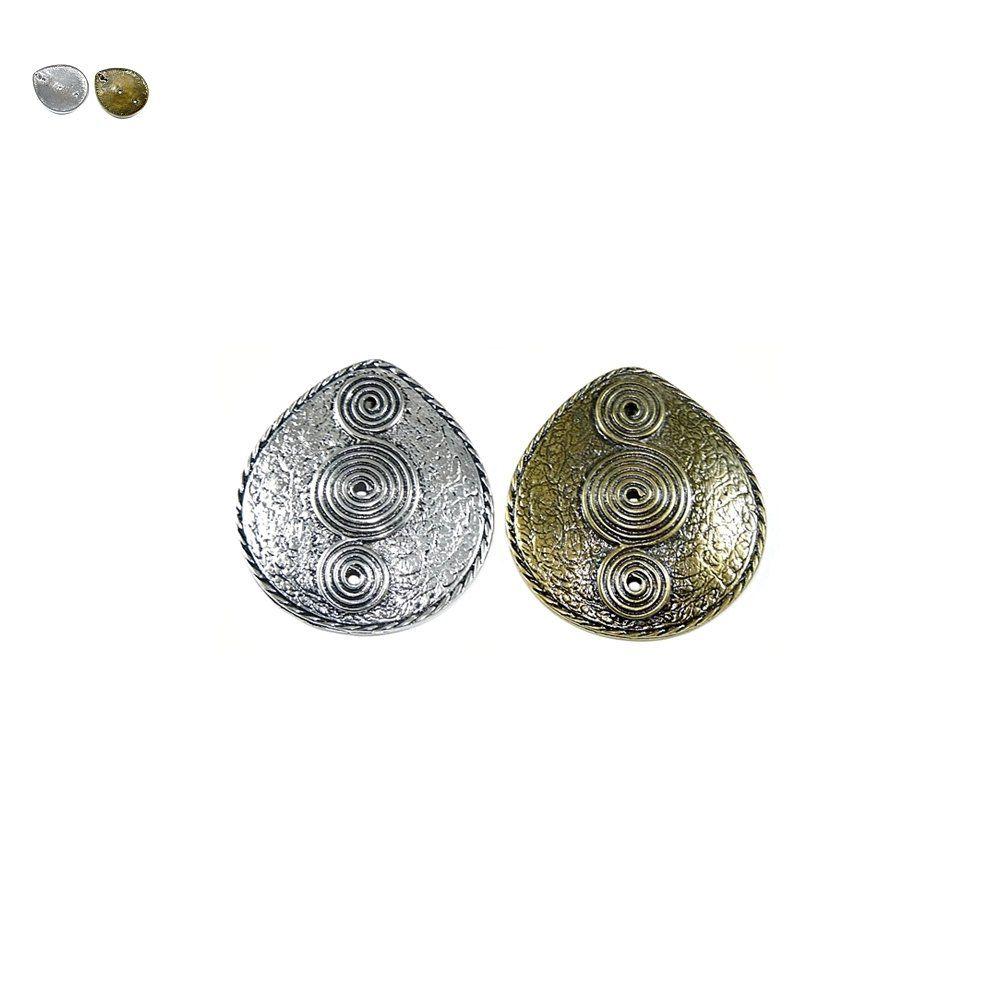 Pingente Gota de Metal - 63mm  - Nathalia Bijoux®