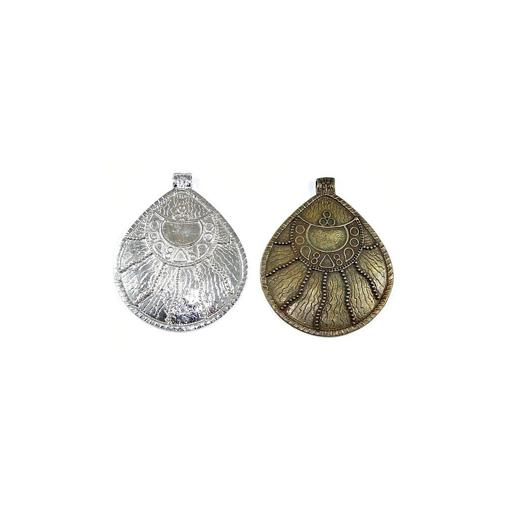 Pingente Gota de Metal - 78mm  - Nathalia Bijoux®