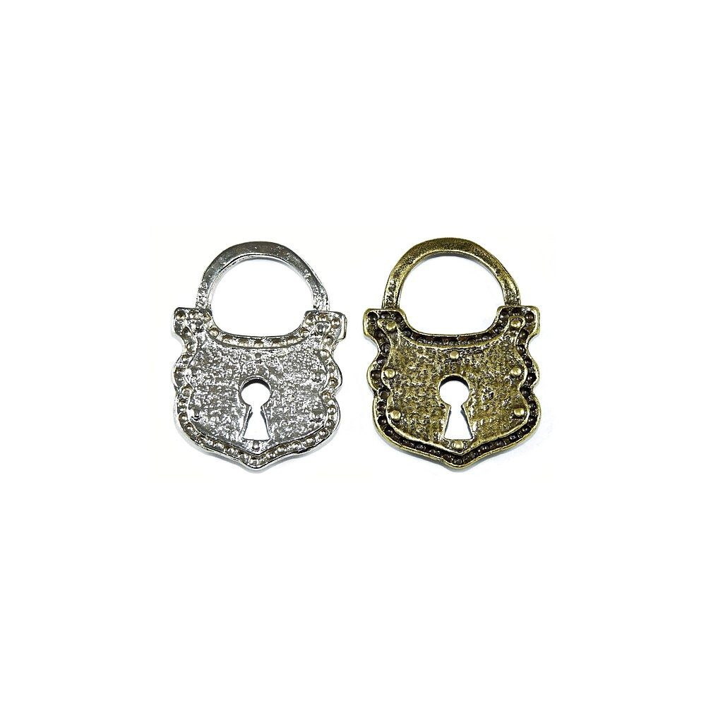 Pingente Cadeado de Metal - 46mm  - Nathalia Bijoux®