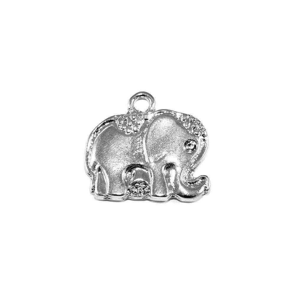 Pingente Elefante de Metal - 23mm  - Nathalia Bijoux®