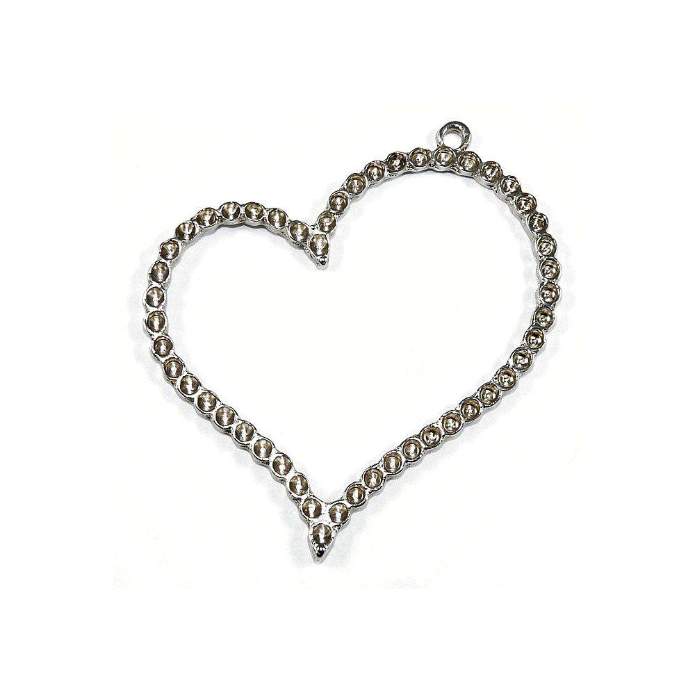 Pingente Coração de Metal - 77mm  - Nathalia Bijoux®