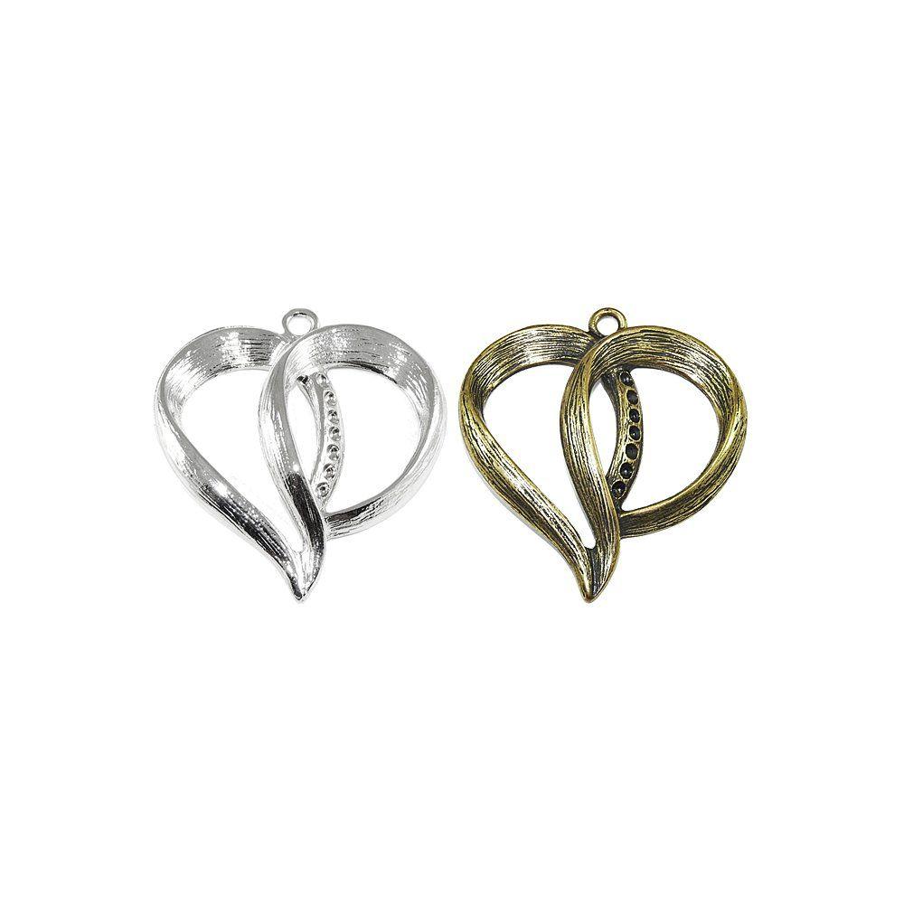 Pingente Coração de Metal - 62mm  - Nathalia Bijoux®