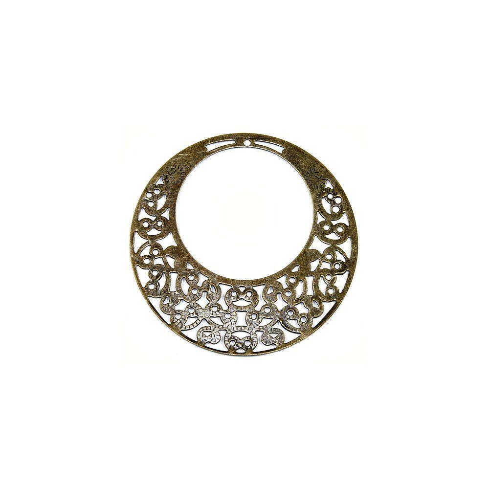 Pingente Argola de Metal - 60mm  - Nathalia Bijoux®