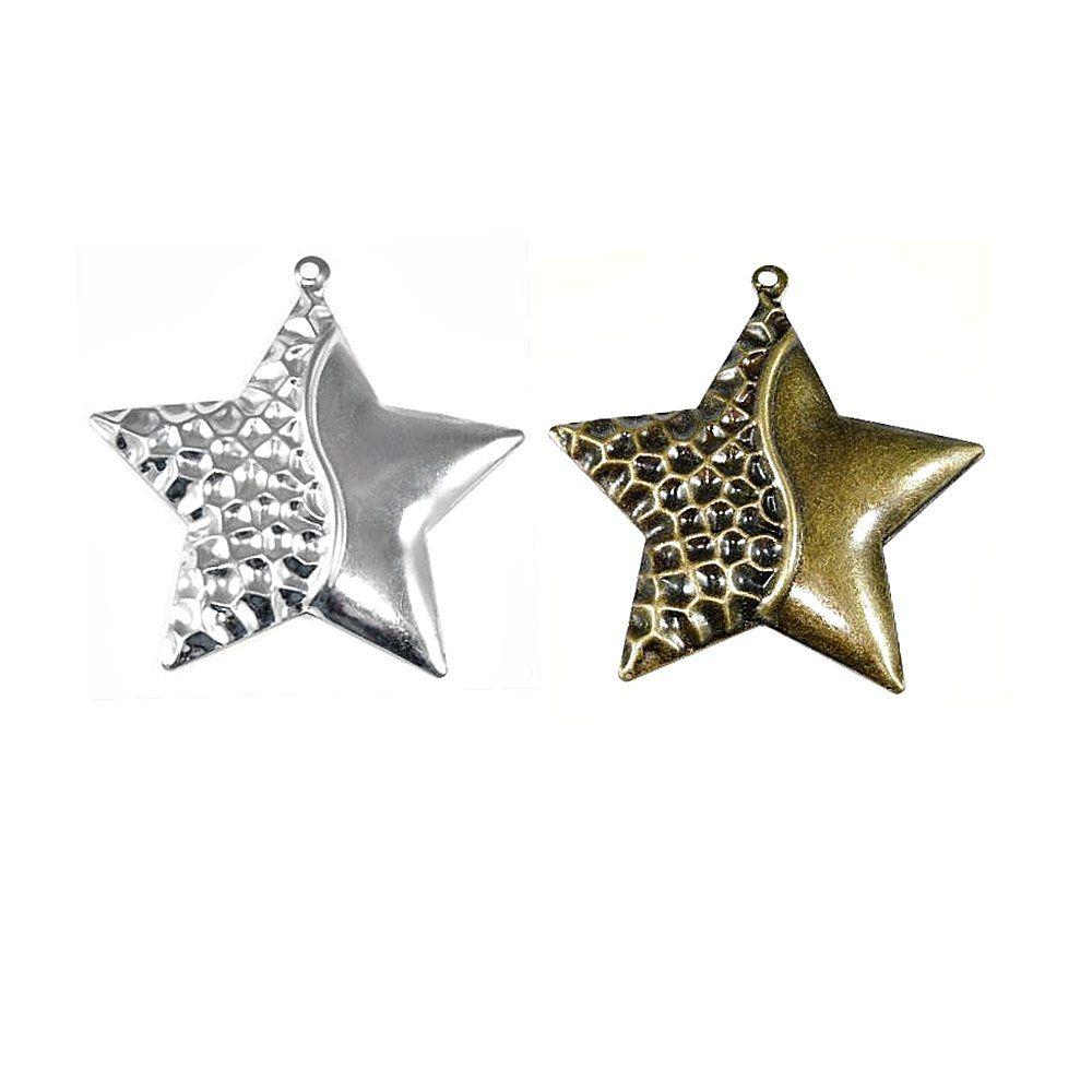 Pingente Estrela de Metal - 70mm  - Nathalia Bijoux®