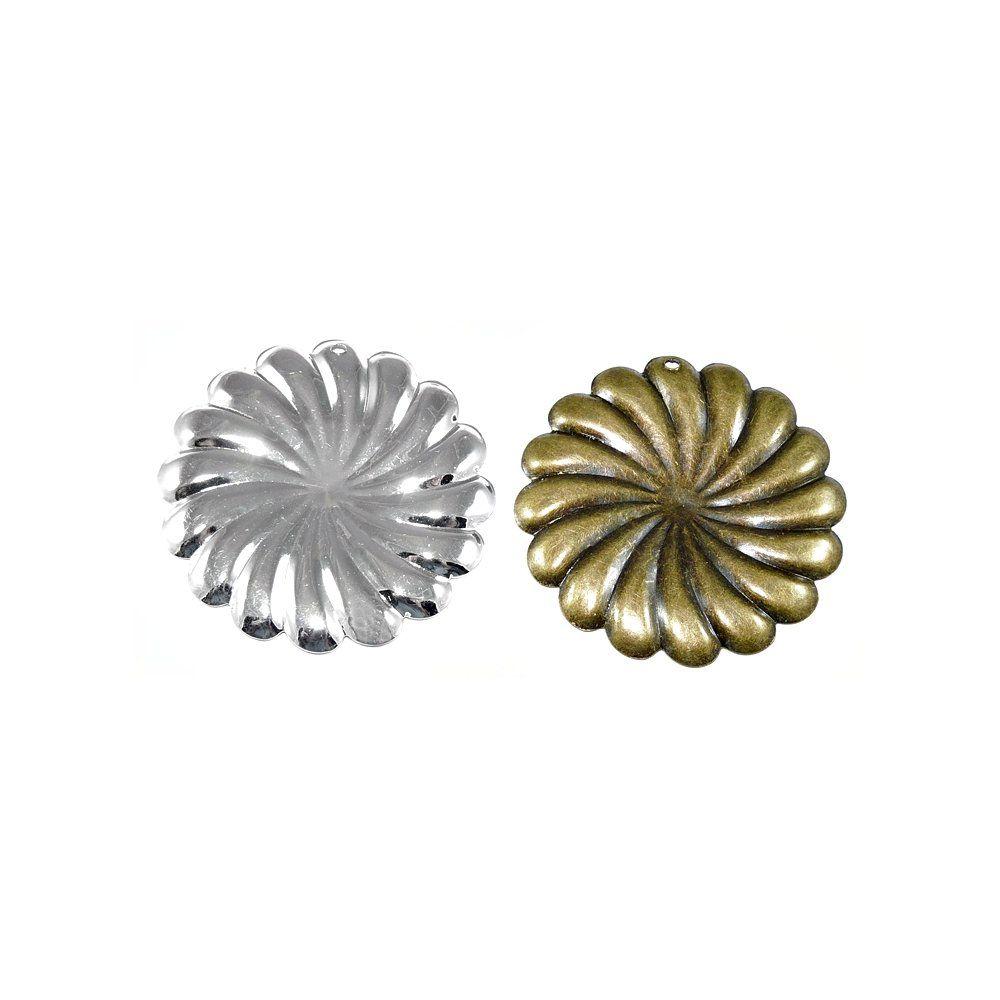 Pingente Flor de Metal - 50mm  - Nathalia Bijoux®