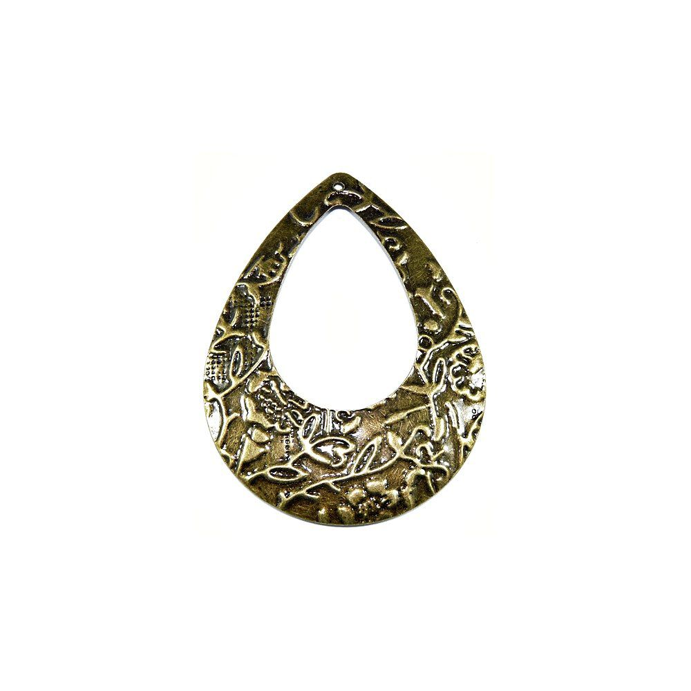Pingente Gota de Metal - 65mm  - Nathalia Bijoux®