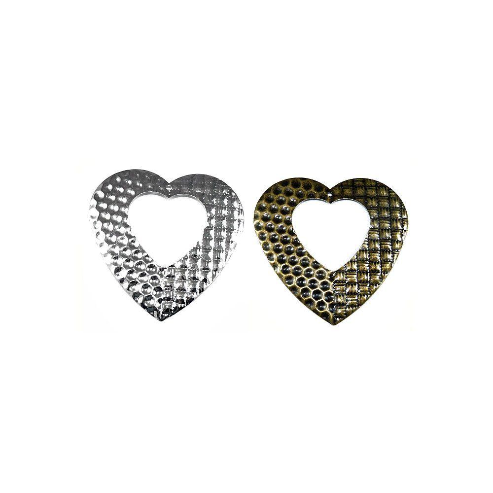 Pingente Coração de Metal - 58mm  - Nathalia Bijoux®