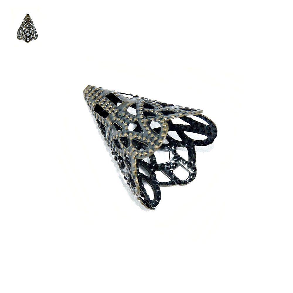 Tulipa de Metal - 21mm  - Nathalia Bijoux®