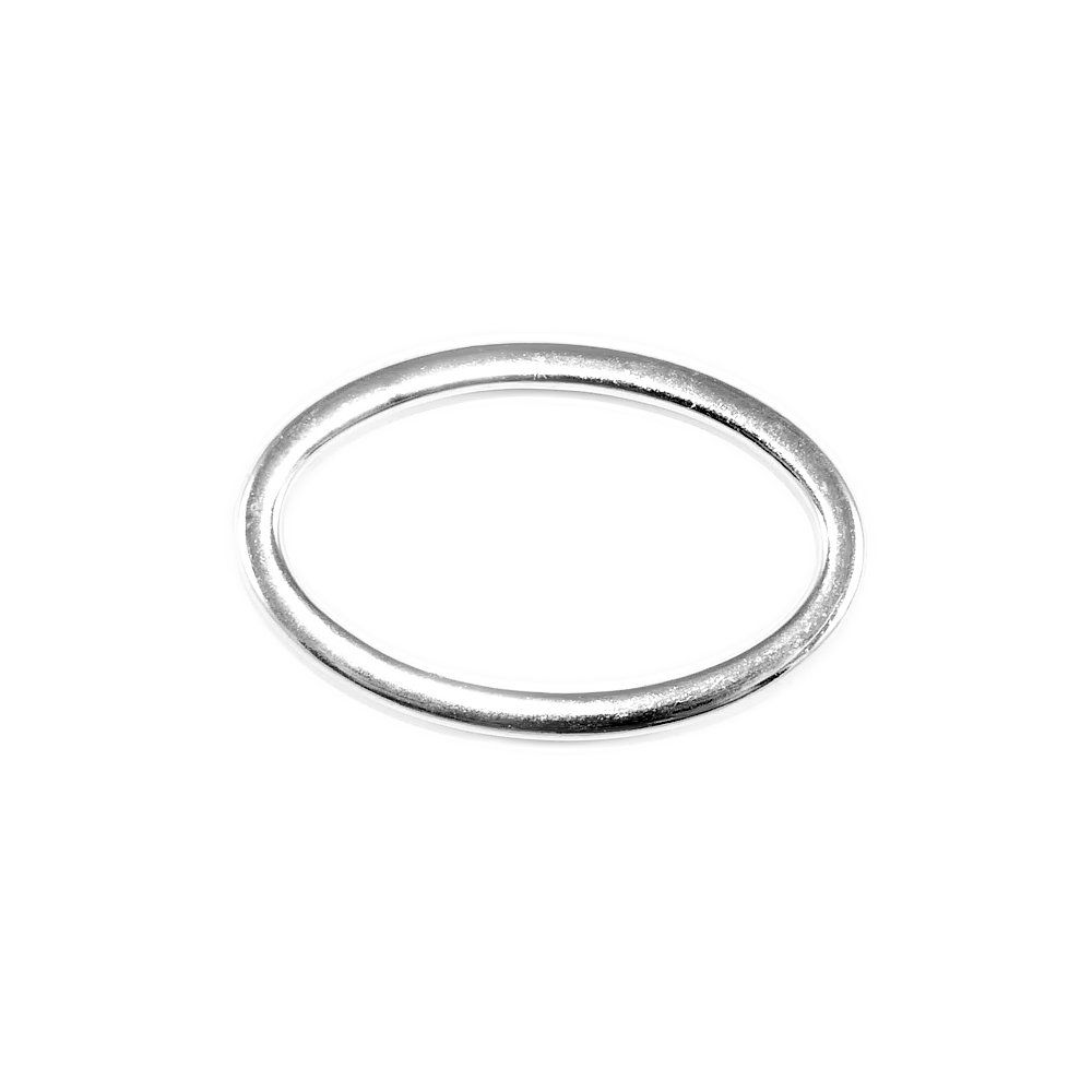 Argola Oval de ABS - 57mm  - Nathalia Bijoux®