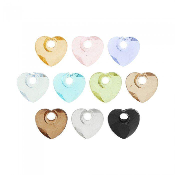 Pingente Coração de Acrílico - 17mm  - Nathalia Bijoux®