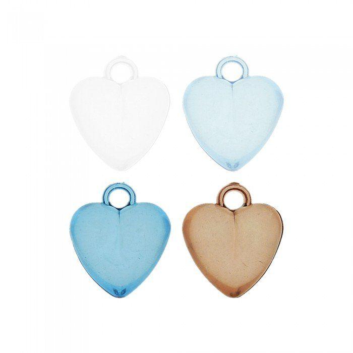 Pingente Coração de Acrílico - 21mm  - Nathalia Bijoux®