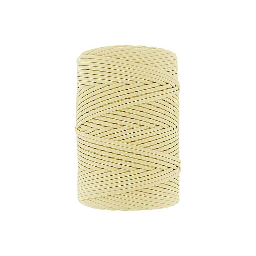 Cordão Encerado Achatado - Amarelo Bebê (401) - 3mm - 100m  - Nathalia Bijoux®