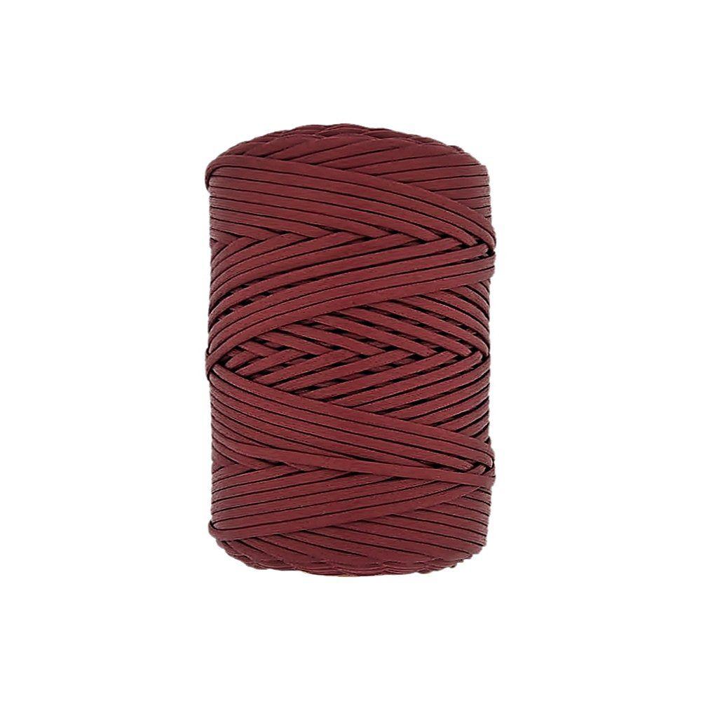 Cordão Encerado Achatado - Cereja (362) - 3mm - 100m  - Nathalia Bijoux®