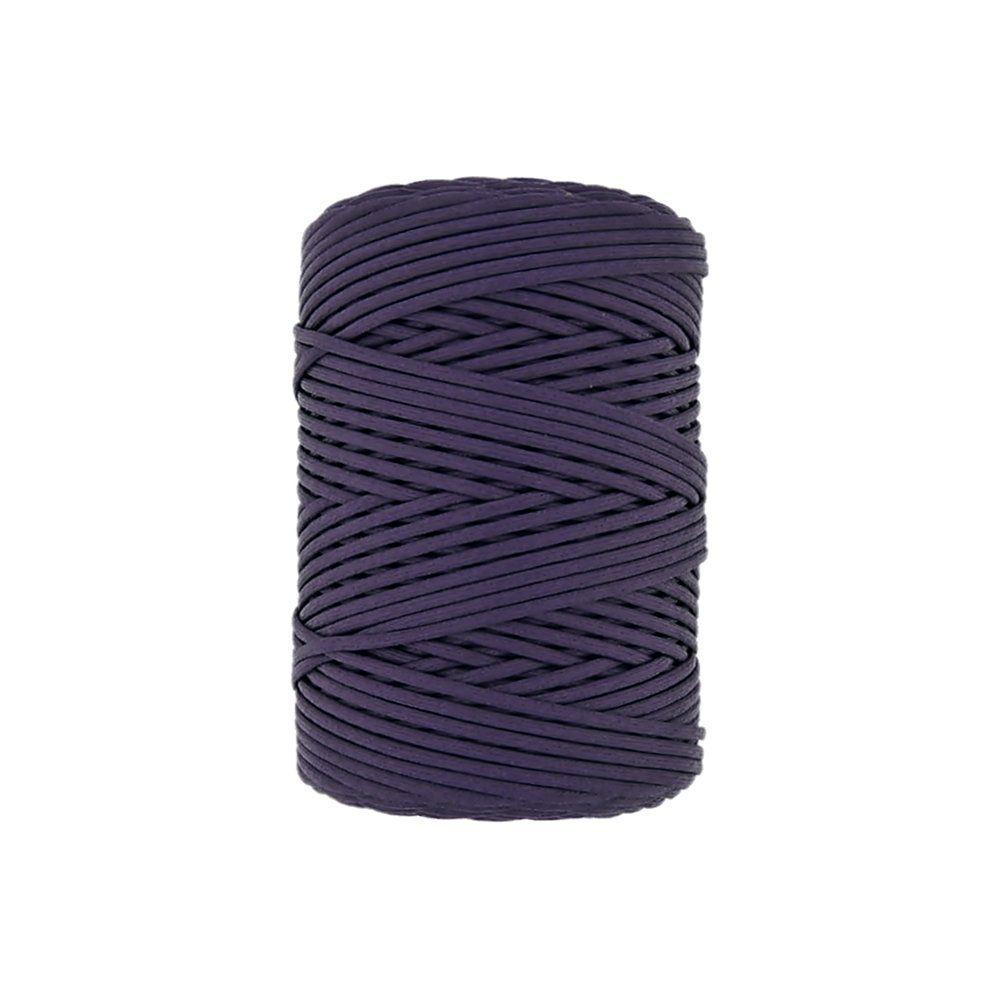 Cordão Encerado Achatado - Roxo (174) - 3mm - 100m  - Nathalia Bijoux®