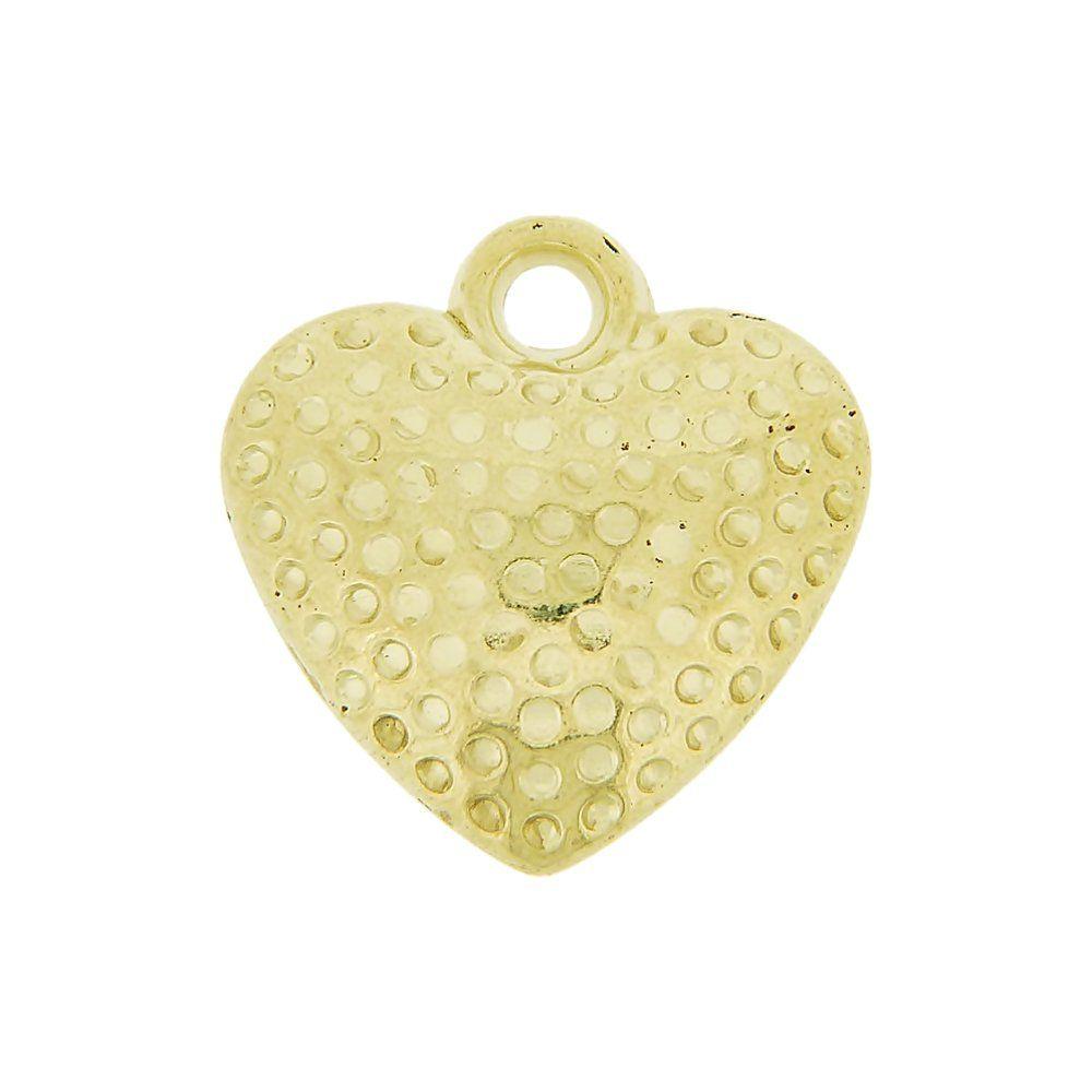 Pingente Coração de ABS - 18mm  - Nathalia Bijoux®