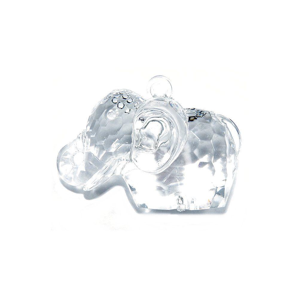 Pingente Elefante de Acrílico - 31mm  - Nathalia Bijoux®