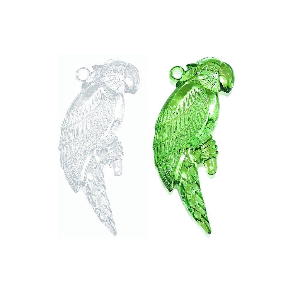 Pingente Papagaio de Acrílico - 70mm  - Nathalia Bijoux®