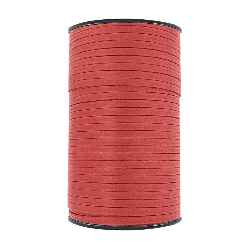 Cordão Encerado Achatado - Vermelho - 6mm - 150m  - Nathalia Bijoux®