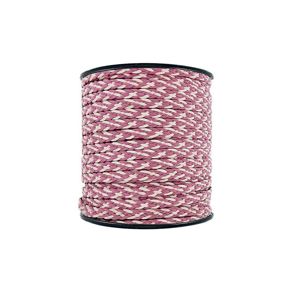Cordão Encerado Trançado - Pink com Rosa - 6mm - 50m  - Nathalia Bijoux®
