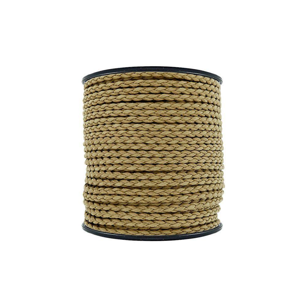 Cordão Encerado Trançado - Havana - 4mm - 50m  - Nathalia Bijoux®