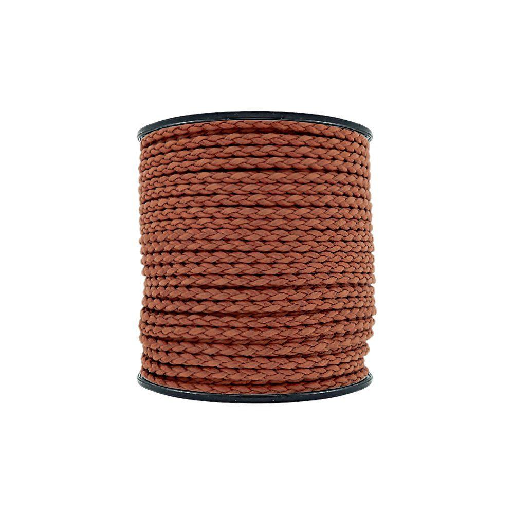 Cordão Encerado Trançado - Terracota - 4mm - 50m  - Nathalia Bijoux®