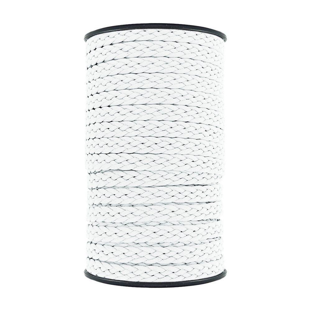 Cordão Encerado Trançado - Branco - 10mm - 50m  - Nathalia Bijoux®