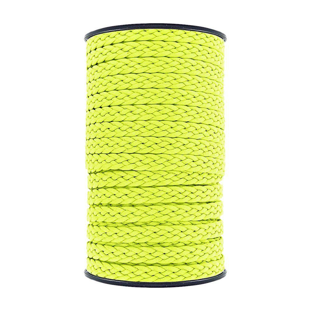 Cordão Encerado Trançado - Amarelo Neon - 10mm - 50m  - Nathalia Bijoux®