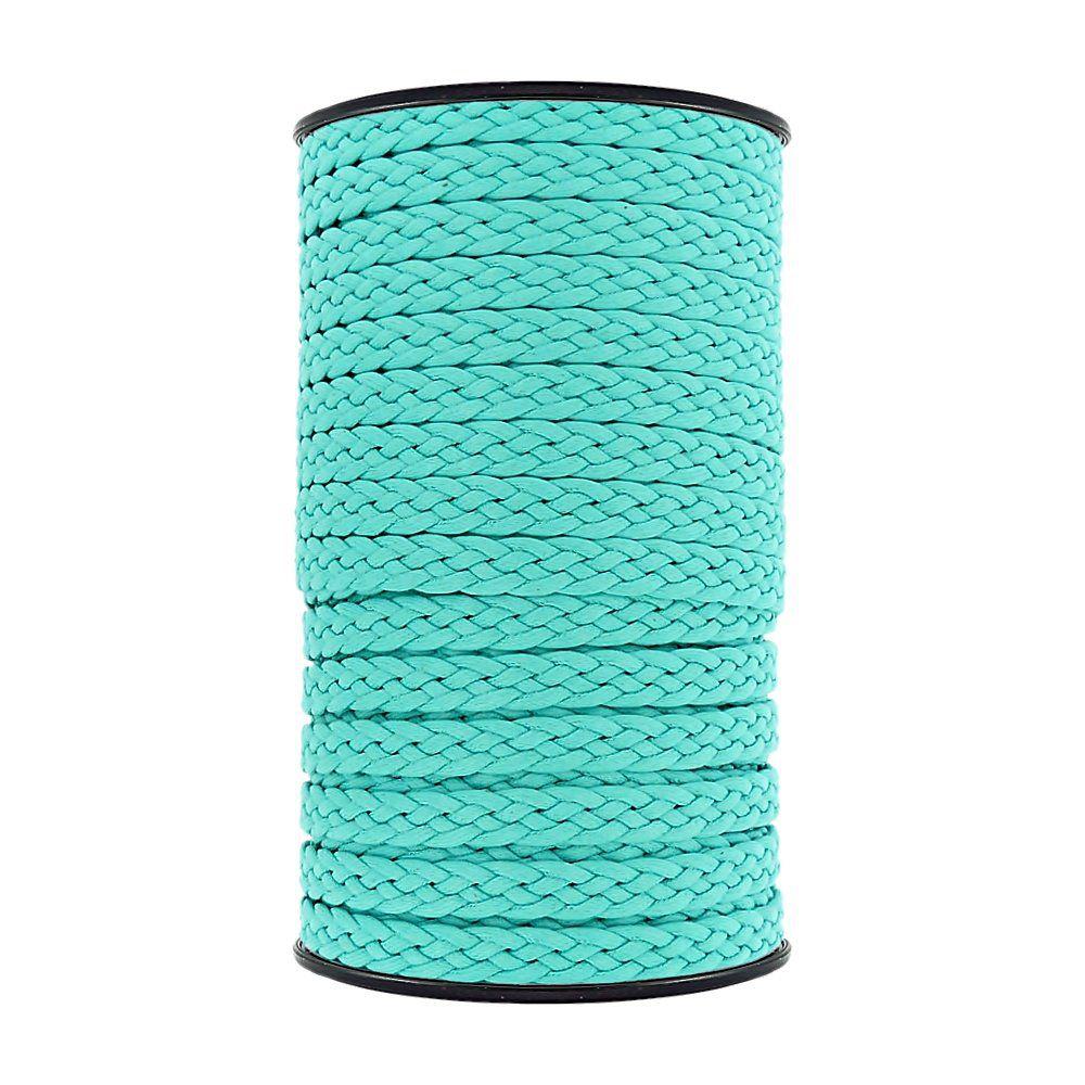 Cordão Encerado Trançado - Verde Água - 10mm - 50m  - Nathalia Bijoux®