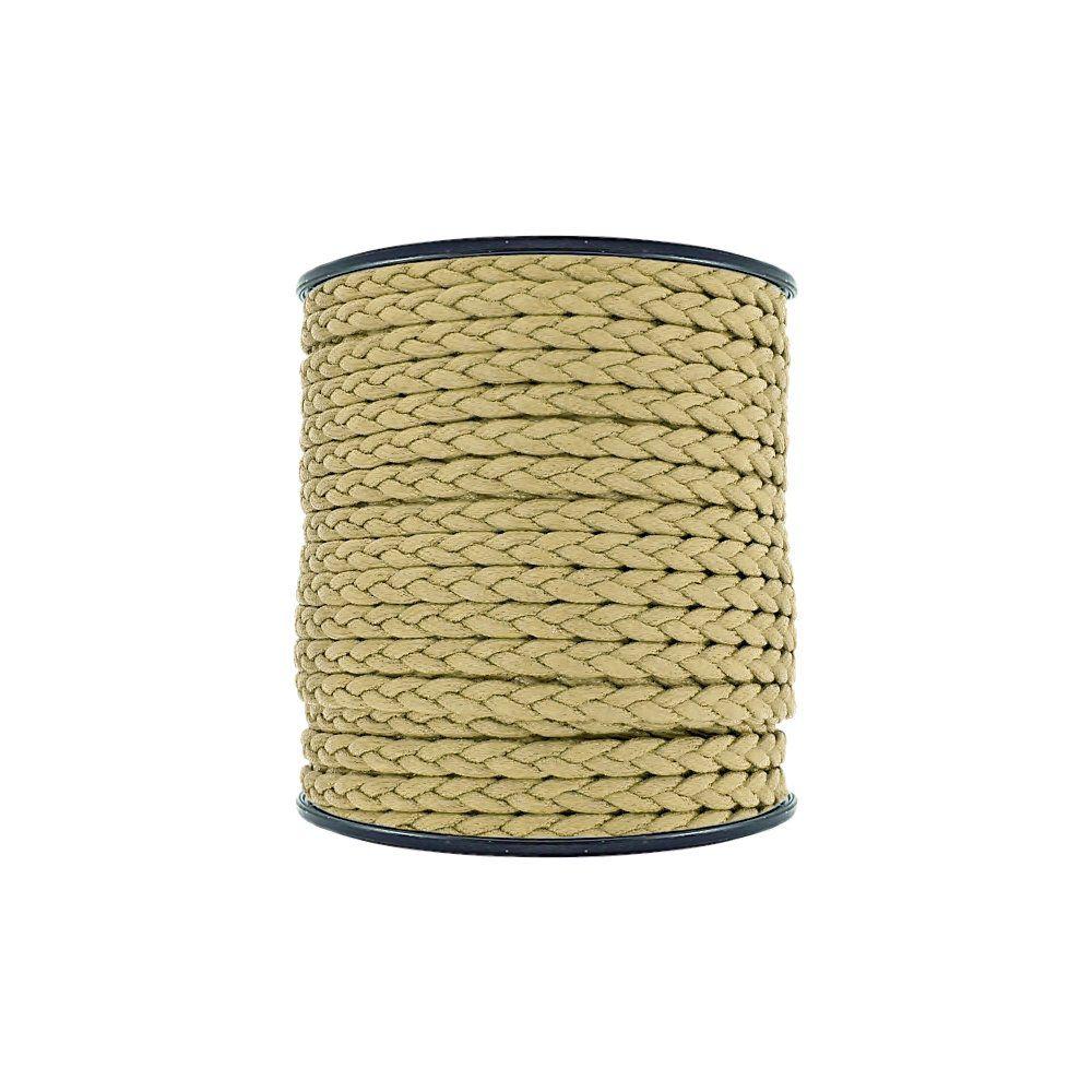 Cordão Encerado Trançado - Mostarda - 6mm - 50m  - Nathalia Bijoux®