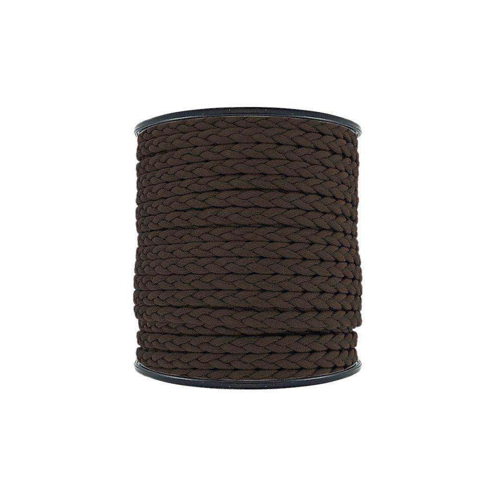 Cordão Encerado Trançado - Café - 6mm - 50m  - Nathalia Bijoux®