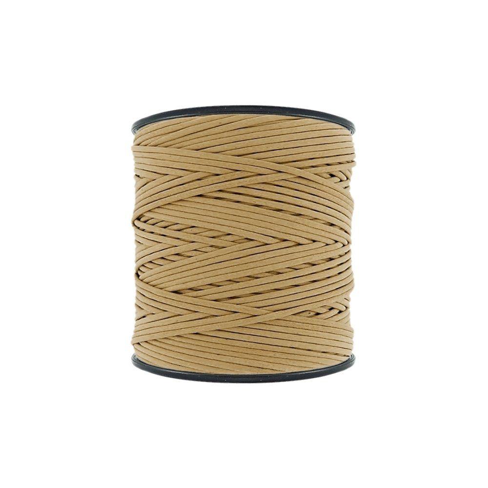 Cordão Encerado - Bege (021) - 2mm - 300m - Premium  - Nathalia Bijoux®