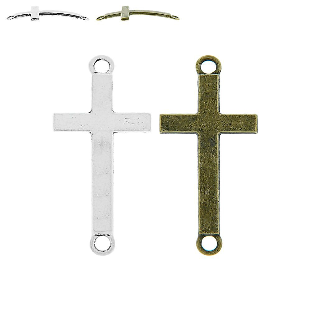 Alongador Cruz de Metal 2 Saídas - 37mm  - Nathalia Bijoux®